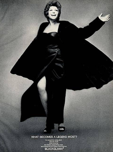 Vintage BLACKGLAMA Print Ad with RITA HAYWORTH - Proof - Mint Condition
