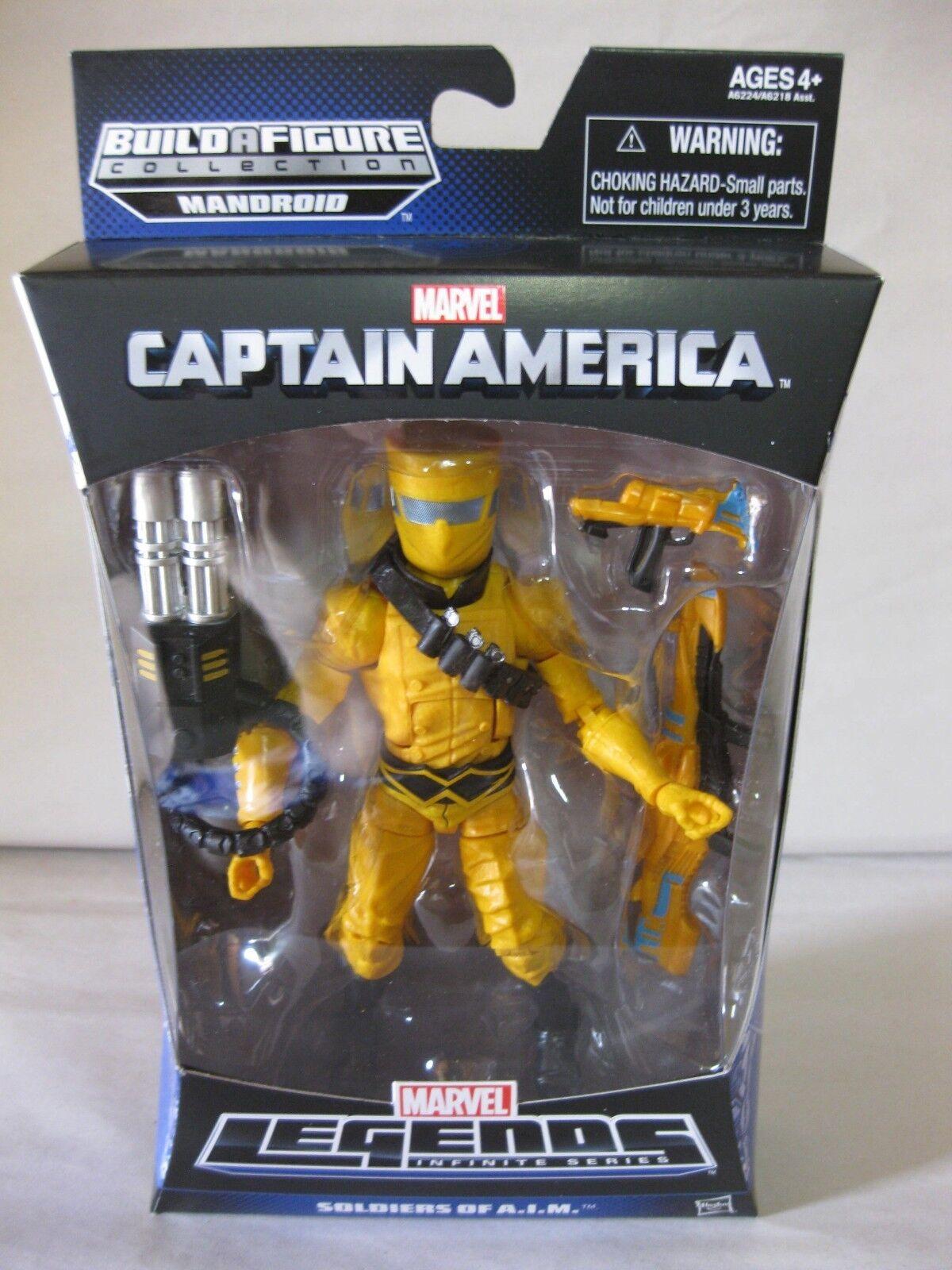 2013 Marvel Legends Captain America Infinite 6  AIM Soldier Mandroid BAF MIP