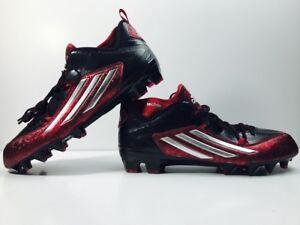 super popular b3df3 54e8d Image is loading Adidas-Crazyquick-2-0-Mid-Football-Cleats-Black-
