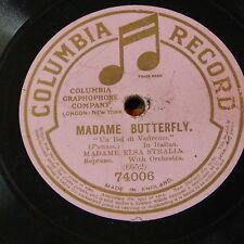 """78rpm 12"""" ELSA STRALLA un bel di vedremo ; madame butterfly"""