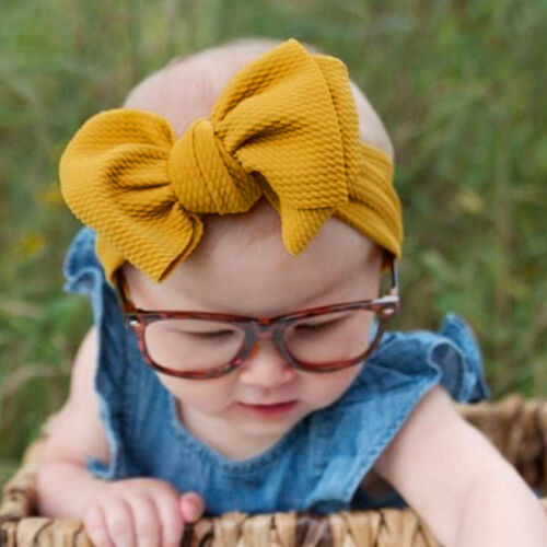 Newborn Cute Baby Toddler Infant Lace Bowknot Headband Stretch Hairband Headwear