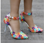 Women-039-s-Lace-Floral-Wedding-Pointed-Toe-Pumps-High-Heel-Stilettos-Buckle-Shoes