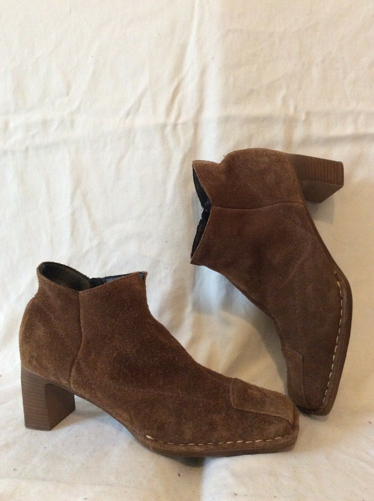 Rieker Brown Ankle Suede Boots Size 40
