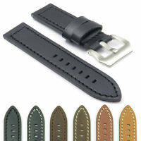 Dassari Bentley Leather Strap Band For Panerai W Brushed Steel Pre-v Buckle