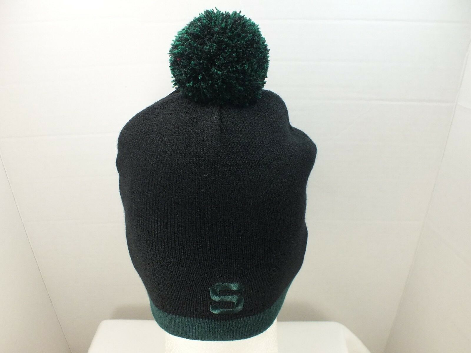 3534bc9b ... purchase michigan state spartans skull knit hat beanie hat knit with  pom top college new adult