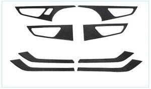 Carbon-Fiber-Door-Handle-Window-Lift-Frame-Cover-Trim-fuer-Audi-Q7-2016-A27-28