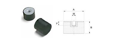 dia 6mm-100mm Anti-vibration damper mounting female-female dimension,pack