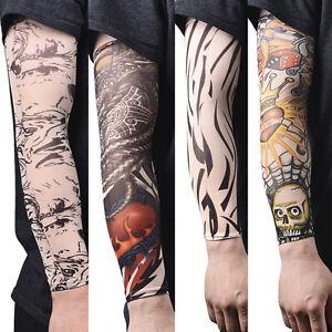 Nylon Fake Calze temporanee del braccio del tatuaggio per le donne degli uomini#