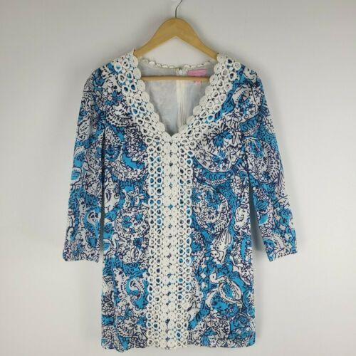 Lilly Pulitzer brooke tunic dress long sleeve V-ne