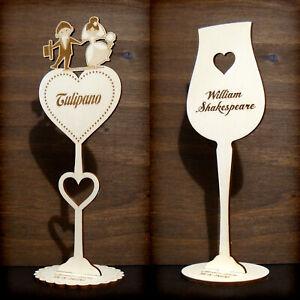 Segnaposto Matrimonio Sposi.Segnaposto Matrimonio Con Nomi Tavoli E Sposi Personalizzati In