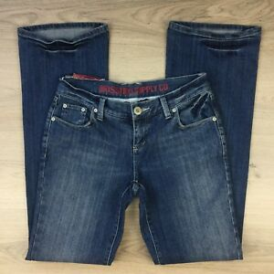 Mossimo-Low-Rise-Slim-Fit-Boot-Cut-Leg-Women-039-s-Jeans-Size-W29-L33-AC6