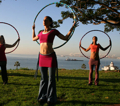 Ultra-Grip//Glitter Deco PRO Hula Hoops 100cm//39/' Weighted TRAVEL Hoola Hoop