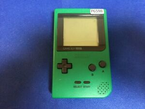 P6598-Nintendo-Gameboy-pocket-console-Green-GBP-Japan-x-DHL