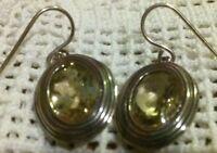 ❤️or Paz Creations Lemon Quartz 925 Sterling Silver Earrings 1 3/8 Israel