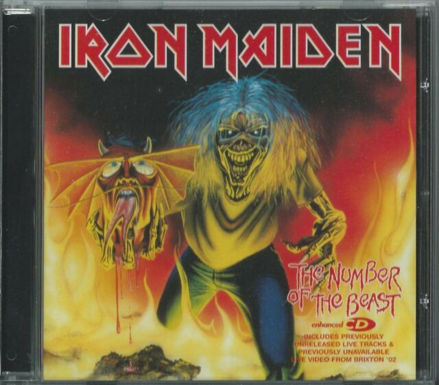IRON MAIDEN - THE NUMBER OF THE BEAST 2005 UK 3 TRACK ENHANCED CD SINGLE