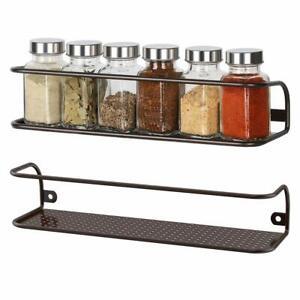 Set-of-2-NEX-Wall-Mounted-Rack-Bottles-Spice-Holder-Storage-Mesh-Kitchen-Bedroom