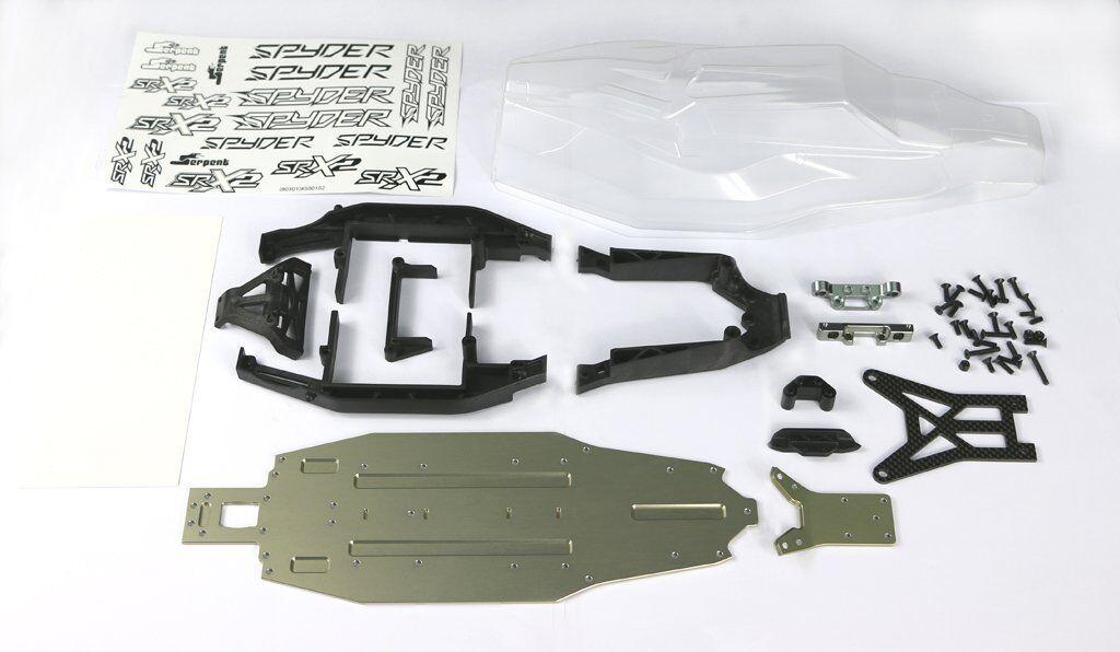 Serpent Upgrade-set aluminium chassis SRX2 MH- 500503