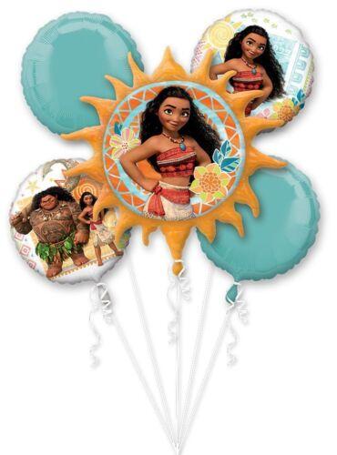 5ct Bouquet Balloon Disney Moana Birthday Party Supplies Mylar Foil