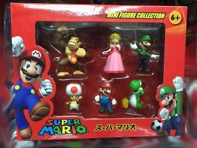 Box Package New Super Mario Animation Game Cartoon Action Figure Set Toy GIFT