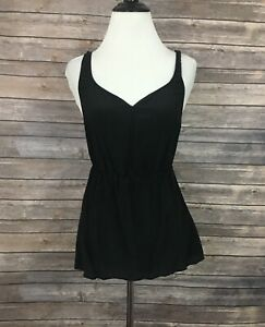 Urban-Outfitters-Ecote-Sleeveless-Silk-Top-Size-S