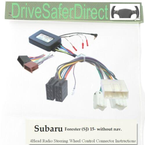 iso-unirse para chino Radio//Subaru Forester 15 Adaptador de Volante SWC-7454-01J