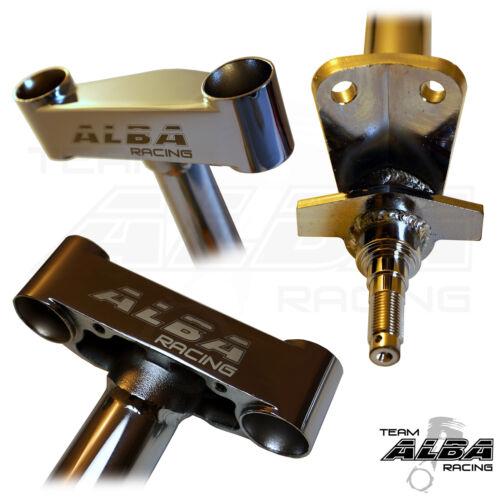 """Honda TRX 450R  Steering Stem 2/""""  Chromoly Chromed   Alba Racing   218-SS-728"""