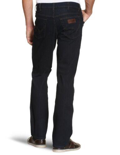WRANGLER Texas Stretch Regular Fit Jeans Nuovi Uomo Classico Blu Scuro Denim Nero