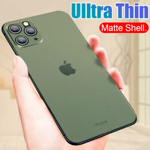 Case For iPhone 11 Pro Max Xs X Ultra Thin Slim 0.3mm Matte Hard Back Cover Skin