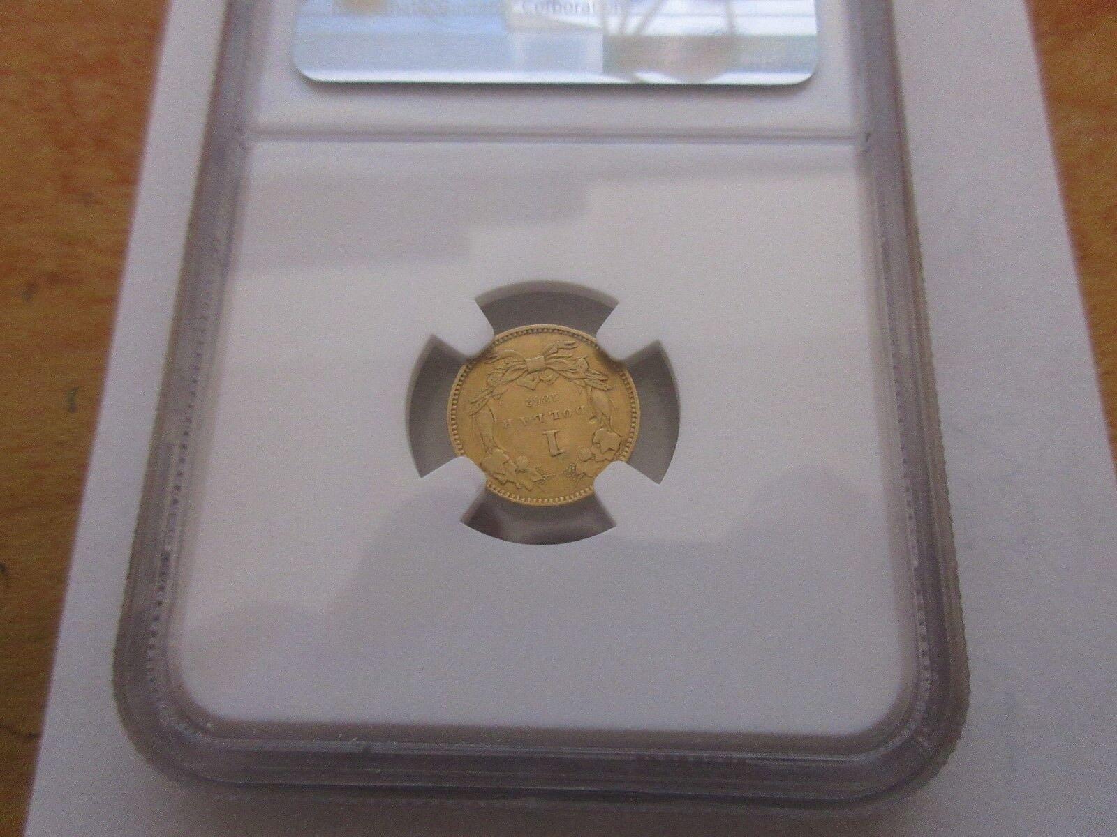 1862 , $1 , Gold Dollar , Indian Princess Head , NGC Ce
