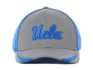 UCLA Bruins NCAA Top of the World Gray and Blue Memory-Fit Flex fit Hat Cap