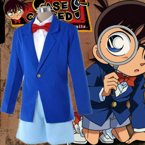 Kid Adult Cosplay Costume Detective Conan Shinichi Kudou Edogawa Uniform Set