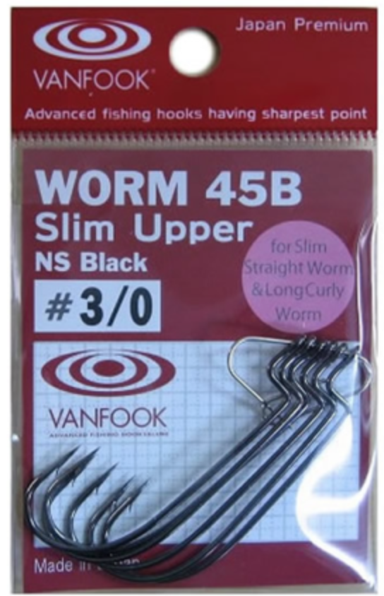Vanfook Ver 45B Slim Upper alternent leurre de pêche crochet Senko Bass Fishing Hook