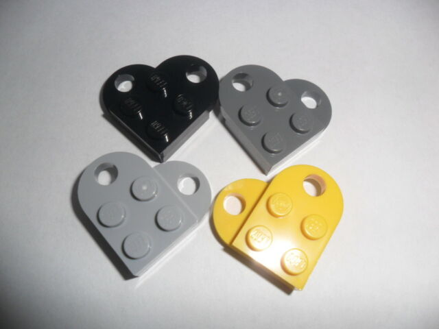 NEW LEGO 12x Coupling Blue Plate Modified 3x2 with Hole 3176 Heart Charm