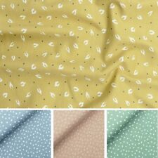 Organic Soft Cotton Jersey Stretch Feather Print Fabric Dress Material, 145cm W