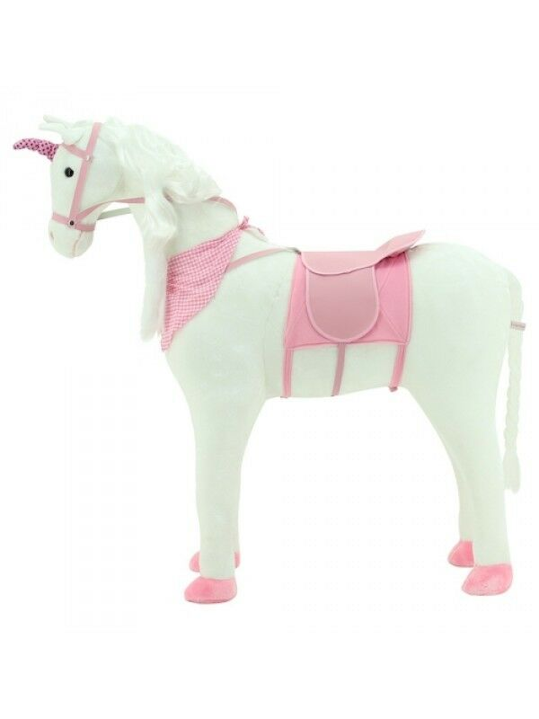 Sweety Toys 9022 Plüsch Einhorn  Pferd XXL Riesen Stehpferd Reitpferd 105 cm