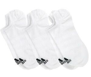 Adidas-Men-Light-No-Show-3-Pairs-Socks-White-Run-Casual-Fashion-GYM-Sock-DZ9415