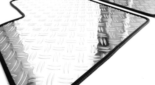 Fußmatten Alu Riffelblech für Fiat Seicento Typ 187 1998-2005