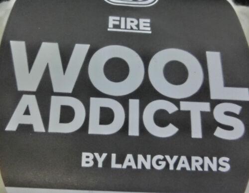 : 100 g LangYarns Wooladdicts FIRE für Megamaschen 029 #3046 14,95 €//100g Fb