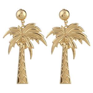 Image Is Loading Women Elegant Coconut Palm Tree Stud Earrings Summer