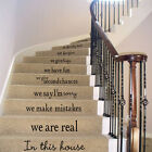 Stair Decals Wall Sticker Quote We Are Family In This House Vinyl Art Home Decor