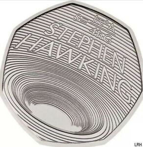 STEPHEN-HAWKING-2019-50p-Pence-Coin-BUNC-Sane-Day-Dispatch-In-Stock