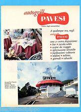 QUATTROR963-PUBBLICITA'/ADVERTISING-1963- PAVESI AUTOGRILL DI VARAZZE