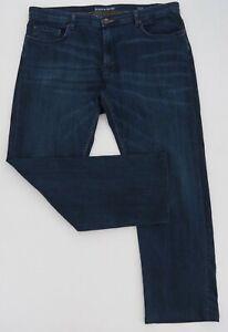RODD-amp-GUNN-Mens-Straight-Fit-Mid-Rise-Jeans-Size-W42R-Indigo-Blue-Stretch-Denim