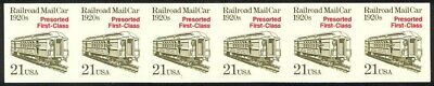 2265a - 21c Railroad Mail Car Imperf Plate #1 Vf/nh Strip Of 6 Fashionable And Attractive Packages