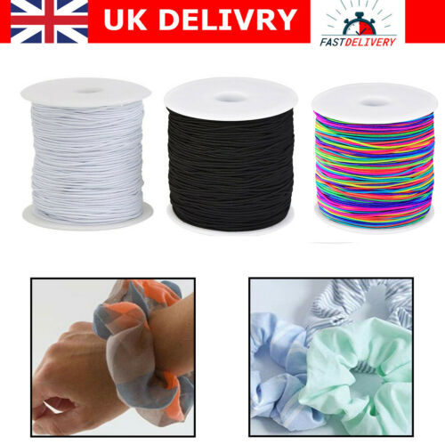Black /& White Stretch Round Elastic Waist Band Woven Sewing Trouser Dressmaking