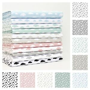All-New-Pastel-Cloud-Fabric-100-Cotton-Patchwork-Dressmaking-Children-Quilting