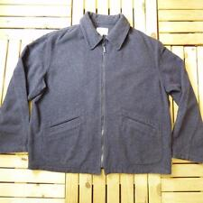 Men's ARMANI JEANS Navy Blue Wool Harrington Jacket Coat XL #B1207