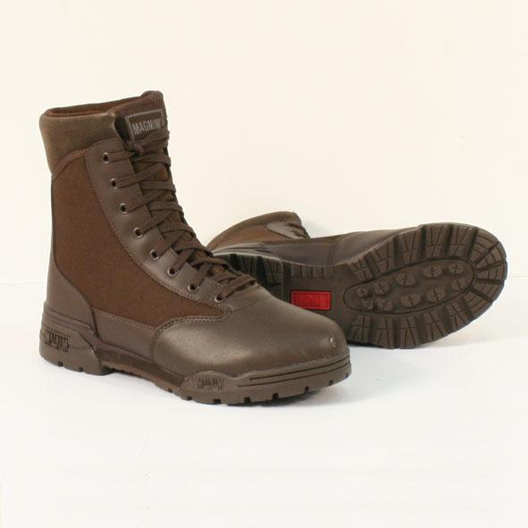 Magnum Marrone Classico Uomini & Donne Lacci di sicurezza uniforme Marrone Magnum Pelle Stivali Di Tela 760ce9