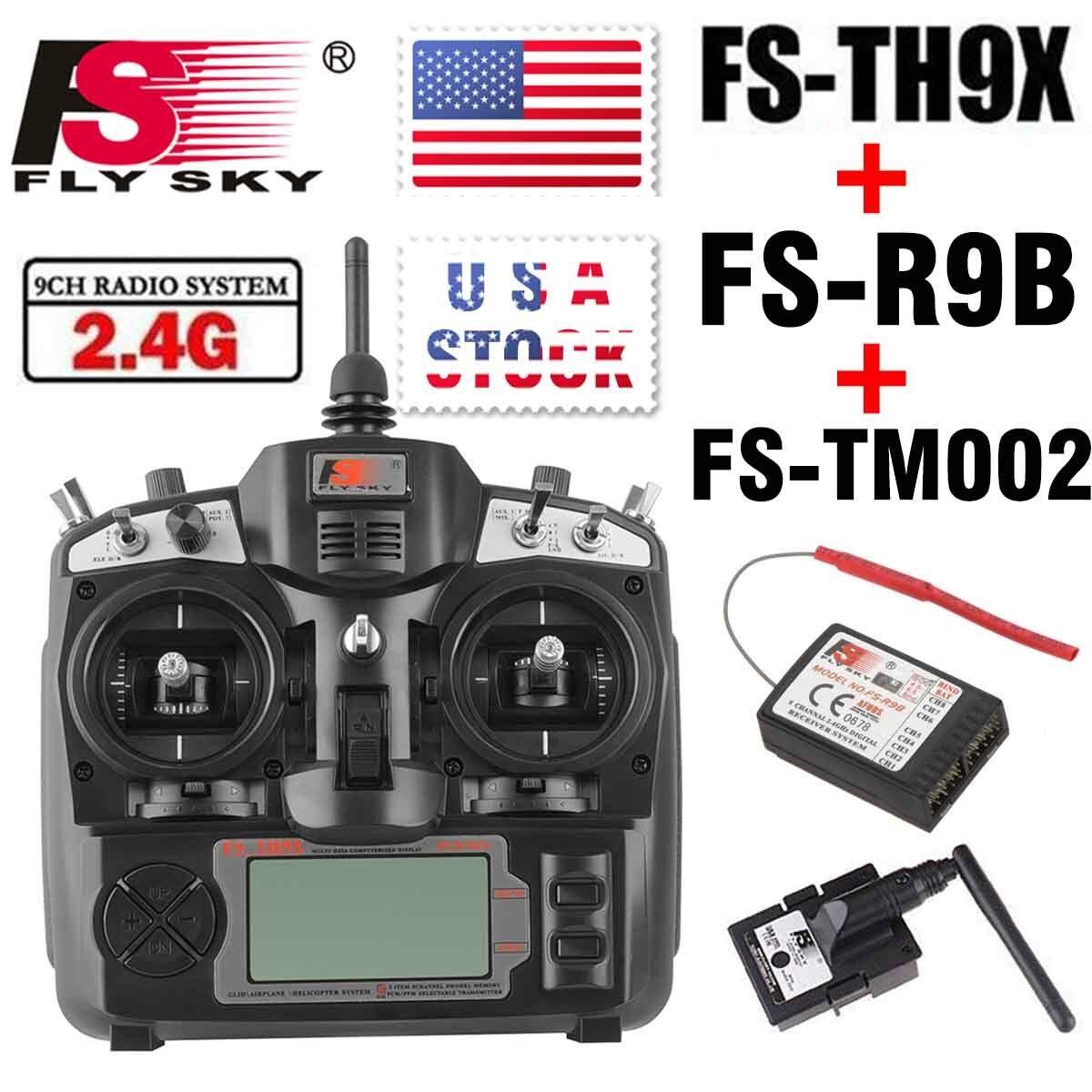 Nuevo FlySky 2.4ghz helicóptero FS-TH9X ch transmisor De Radio Control Receptor Radio con FS-R9B