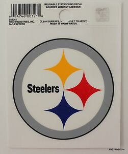 f1163a0dc Image is loading New-Window-Static-Cling-Pittsburgh-Steelers-NFL-Football-